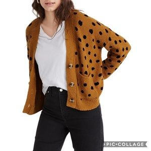 Madewell Hillview cardigan sweater painted spots M
